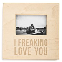 Primitives by Kathy 'I Freaking Love You' Box Picture Frame - Beige (4x6)