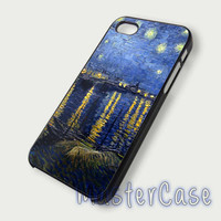Painting, The Starry Night - Hard Plastic,Covers Phone,Custom IPhone 5,IPhone 4,Samsung Galaxy S3,S4,Blackberry,HTC One -AA278-6