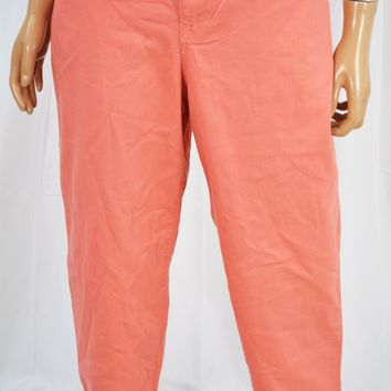 Style&Co Women's Stretch Pink Mid Rise Cuffed Capri Denim Jeans 14