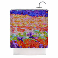"""Jeff Ferst """"Earthly Delights"""" Floral Abstract Shower Curtain"""
