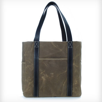 Hudson Waxed Cotton Twill Tote Bag