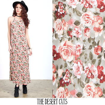 vintage 90s dress vintage 90s grunge floral printed sun dress vintage grunge dress vintage 90s spaghetti strap rose print dress