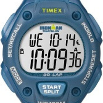 Timex Women's Blue 30 LAP MID Digital Watch