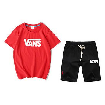VANS 'stylish men's multicoloured casual shorts and short sleeves