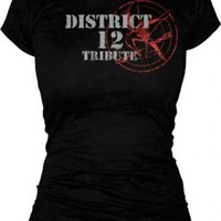 The Hunger Games District 12 Tribute Katniss Black Juniors T-shirt