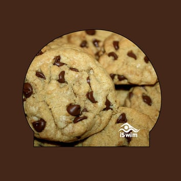 Chocolate Chip Cookies Silicone Swim Cap PREORDER | iSwimShop