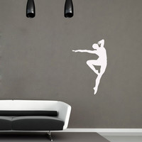 Vinyl Decals Dancing Silhouette Home Wall Art Decor Removable Stylish Sticker Mural L174 Unique Design for  Room Dance Studio