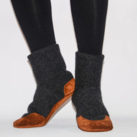 Men and Women Lambswool Boots, Unisex Slipper Socks, Men and Women Felted Wool Slippers, Unisex Cottage Socks. Adults 6.5 -16. Full Moon