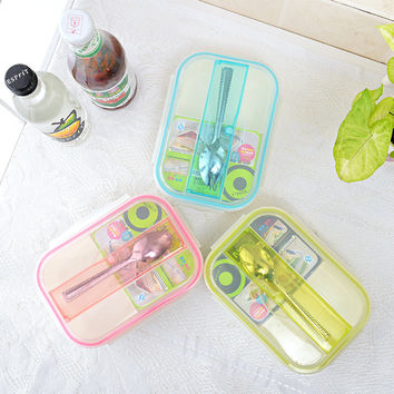 New Microwave Plastic Lunch Box Storage Boxes Food Storage Food Bento Box