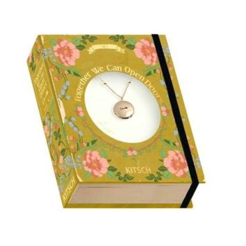 Key Charm Locket Vintage Book Box