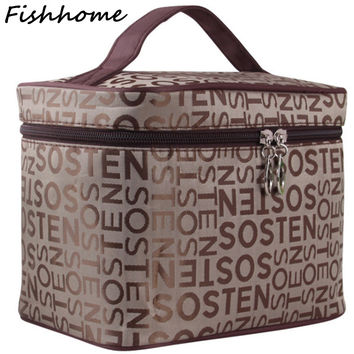 Letters Cosmetic Bag Women Waterproof Professional Beauty Bag Toiletry Kit Wash Necessaire Travel Organizer Make up Bags SZL05