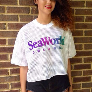 Oversized Crop Seaworld jersey by MadisonsCustomCloset on Etsy