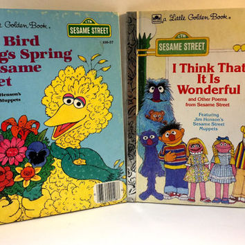 2 Vintage Sesame Street Children's Books (Set of Two)