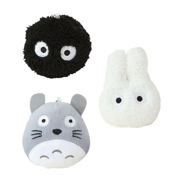 "3pcs/lot 4"" 10cm New Totoro Plush Toys Car Accessories, Plush Stuffed TOY Phone Strap BAG Pendant,Kawaii Mini Neighbor TOTORO"