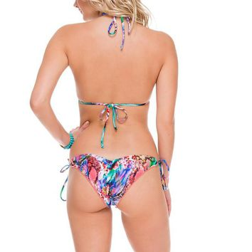 Luli Fama Crystallized Wavey Ruched Back Brazilian- Gorgeous Chaos
