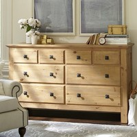 Mason Extra-Wide Dresser - Wax Pine finish