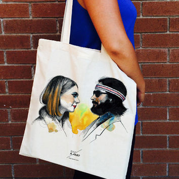 Margot & Richie  Tote Bag - A Tribute to Wes Anderson