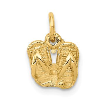 14k Yellow Gold Solid Polished Sandals Charm