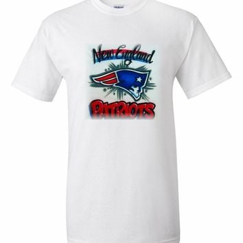 Airbrushed Superbowl 2018 New England Patriots Shirt