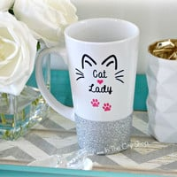 Cat Lady Mug / Cat Mom Latte Mug