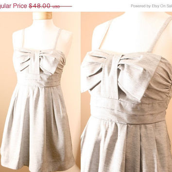 1 DAY SALE Audrey Pleated Bow Denim Sundress in by PYTboutique