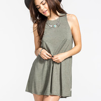 Rvca Sucker Punch Dress Olive  In Sizes