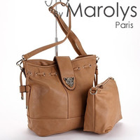 Tanned bag, handbag, make up bag,