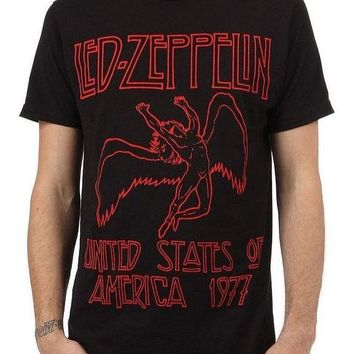 Led Zeppelin 1977 US TOUR T-Shirt Red Lettering NEW 100% Authentic & Official