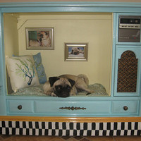 Large Upcycled Pet Bed House - Cozy Retreat