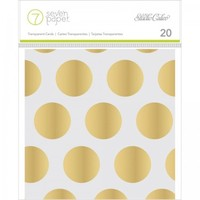 "Seven Paper Amelia Transparent 4""x4"" Cards with Gold Foil Designs 332376"