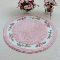 DIAIDI Rustic Area Rugs ,Rural Carpet Roses for Sale,Dinning Room Rug,Bedroom Rug,Floral Bath Rugs,Bed Rug,Cute Rug,Kids Room Rugs, Kids Area Rugs,Round Rug Carpet