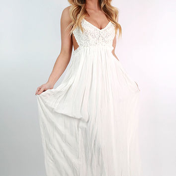 The Grand Reveal Maxi Dress in White