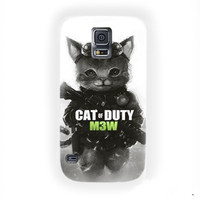 Cat Of Duty M3O For Samsung Galaxy S5 Case