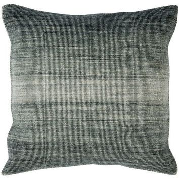 Charcoal Gray Ombre Carpet Throw Pillow