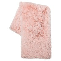 Blush Long Faux Fur Throw - Xhilaration™