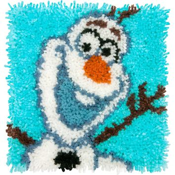"Olaf - Frozen Disney Latch Hook Kit 12""X12"""