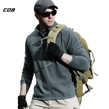 CQB Outdoor Sports Camping Tactical Military Clothes Men's Fleece Jacket  Warmth Male Anti-static Coat for Hiking Hunting