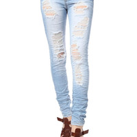 Q2 Super Skinny Jeans With Extreme Rips