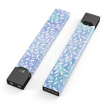 Skin Decal Kit for the Pax JUUL - Blue and White Watercolor Leaves Pattern