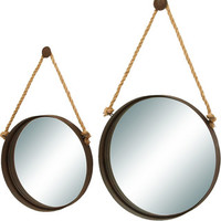 Woodland Imports 2 Piece Nautical Ocean Porthole Mirror Set from Wayfair | BHG.com Shop