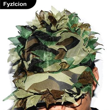 Hunting Polyester Men Jungle Camouflage Cap Breathless Unisex Tactical Cap Adjustable Camouflage Hat Camo Casquette Bone Cap