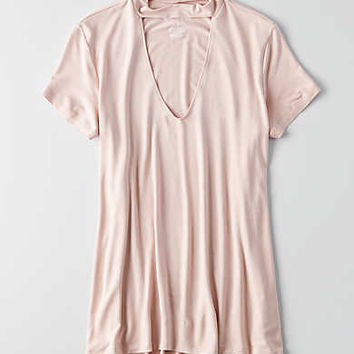 AEO Soft & Sexy Choker T-Shirt, Light Pink