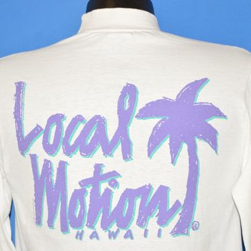 90s Local Motion Surf Palm Tree Long Sleeve t-shirt Small