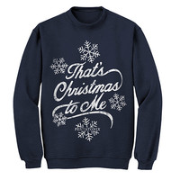 Pentatonix Official Store | Pentatonix That's Christmas To Me Navy Sweatshirt