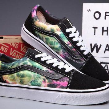 VLXZRBC VANS Old Skool Canvas Galaxy Print Flats Sneakers Sport Shoes