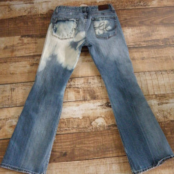 Women's Express Jeans Size 4 S One of a Kind Distressed Destroyed Tie Dye