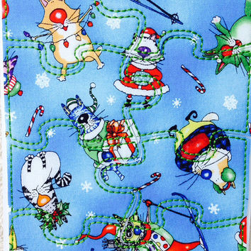 Fabric Jigsaw Puzzles - Christmas Cats & Christmas Dogs