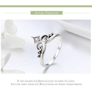 Women Silver Rose Punk RIng