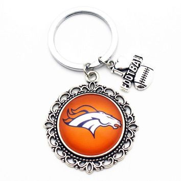 Denver Broncos football Keychain Alloy