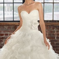 Organza Ruffle Gown by Blu by Mori Lee